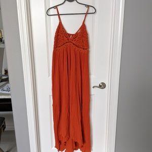 Free People Crochet Maxi Dress